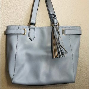 Cole Haan soft blue pebble leather bag